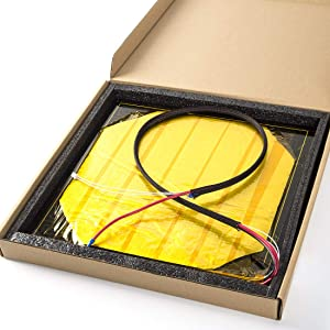 Creality 3D 24V Aluminum Heated Bed Hot Bed Kit with Installed Cable for CR-10S Pro,CR-X Creality 3D Printer,310 x 320 x 3mm