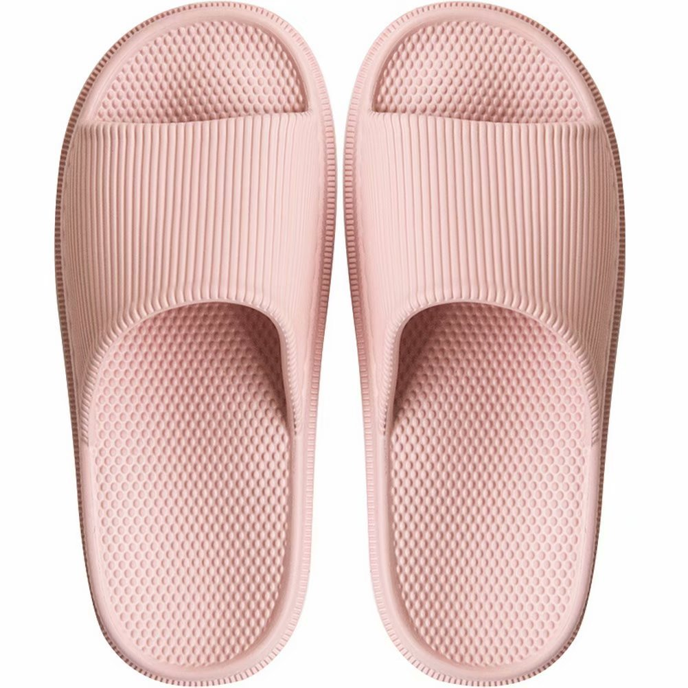 BEALTUY Slippers for Women Men Summer Bathroom Non Slip Shower Sandals House Soft Foams Sole with Foot Massage,FHTX02-Pink-35-36