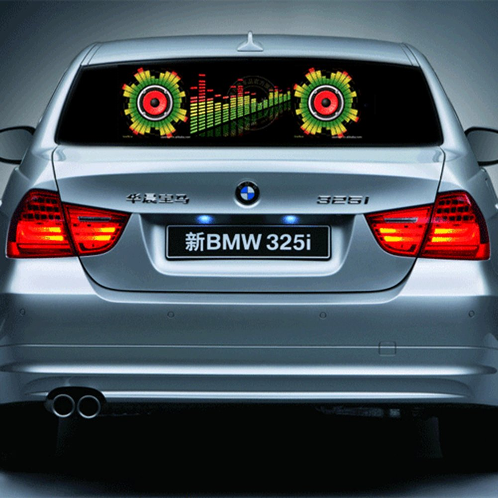 iNewcow Auto Music Rhythm Lamp Sound Voice Beat Glow LED Light Car Activated Equalizer Stickers 9025CM by iNewcow (Image #4)