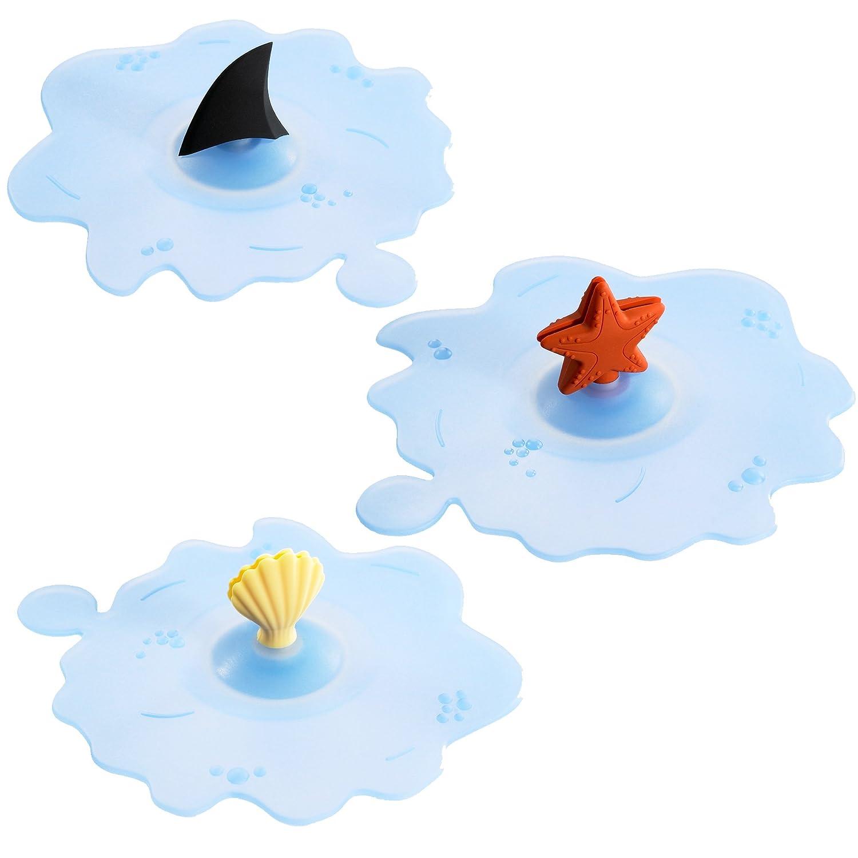 Lurch 'Ozean' (Ocean) 210182 Summery Glass Lids Set of 3