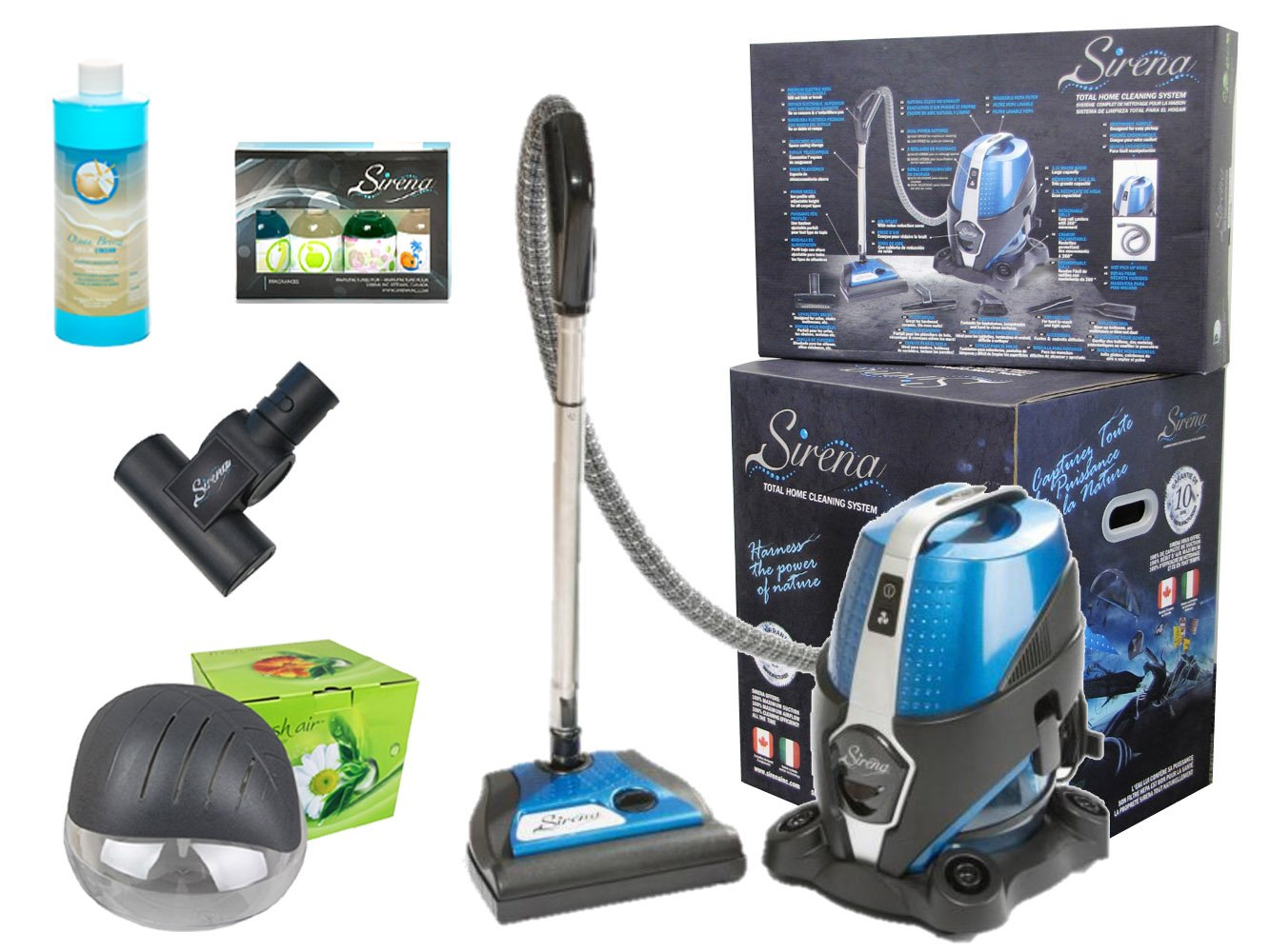 Sirena 2016 New 2-Speed Water Filtration Vacuum Cleaner Deluxe Total Home Care System With Bonus Rainbow Fragrance and Extras Exclusive Fresh Air Revitalizer Aroma Therapy Machine and 10 yr Warranty