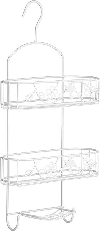 White Premier Housewares Paradise 2-Tier Shower Caddy