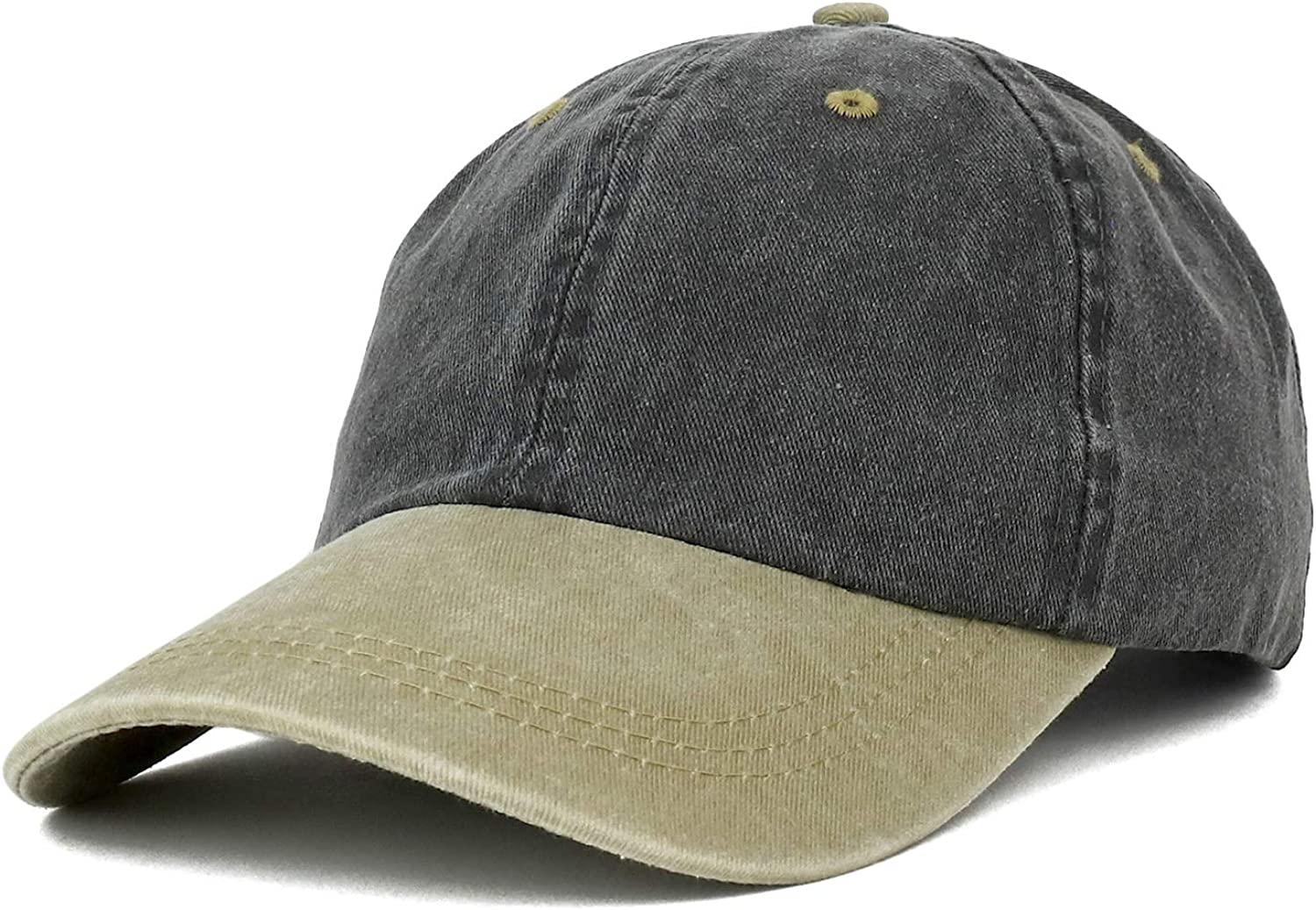 Trendy Apparel Shop Youth Small Fit Bio Washed Unstructured Cotton Baseball Cap