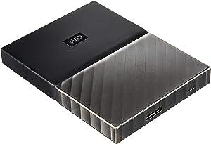 WD 1TB Black-Gray My Passport Ultra Portable External Hard Drive - USB 3.0 - WDBTLG0010BGY-WESN (Old Generation)
