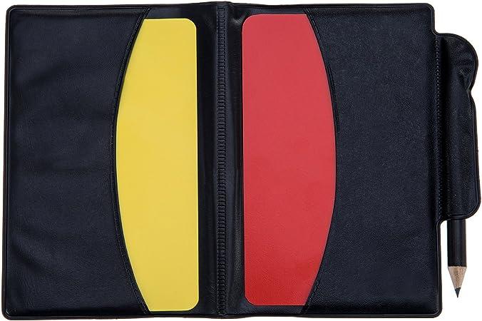 Mudder Kit de Tarjetas de Árbitro de Deportes Tarjeta Roja Tarjeta Amarilla con Tarjetero y Silbato de Árbitro de Meta Silbato de Entrenador para Fútbol: Amazon.es: Deportes y aire libre