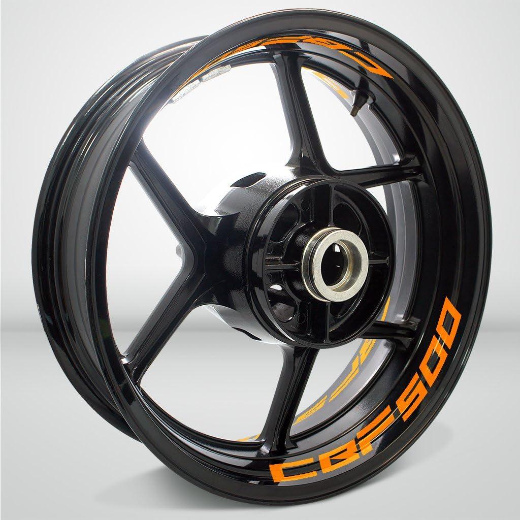 2 Tonos de Ar/ándano Motocicleta Moto Llanta Inner Rim Tape Decal Pegatinas para Honda CBF 500