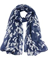 Bestpriceam Women Lady Chiffon Butterfly Print Neck Shawl Scarf Scarves Wrap Stole