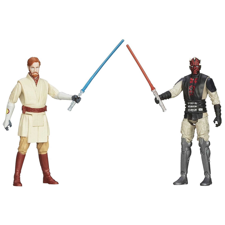 STAR WARS, Mission Série Mandalore Lot [Obi-Wan Kenobi et Darth Maul], 9,5 cm