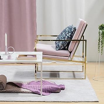 Amazon De Mr Do Samt Sessel Stuhl Rosa Loungesessel Armlehnenstuhle