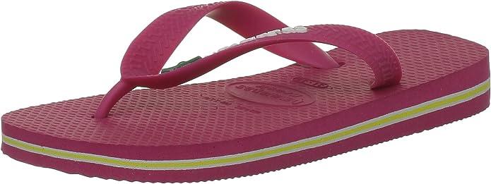 Havaianas Brasil Chanclas, Unisex Adulto, Rosa (Fucsia), 25/26 EU: Amazon.es: Zapatos y complementos