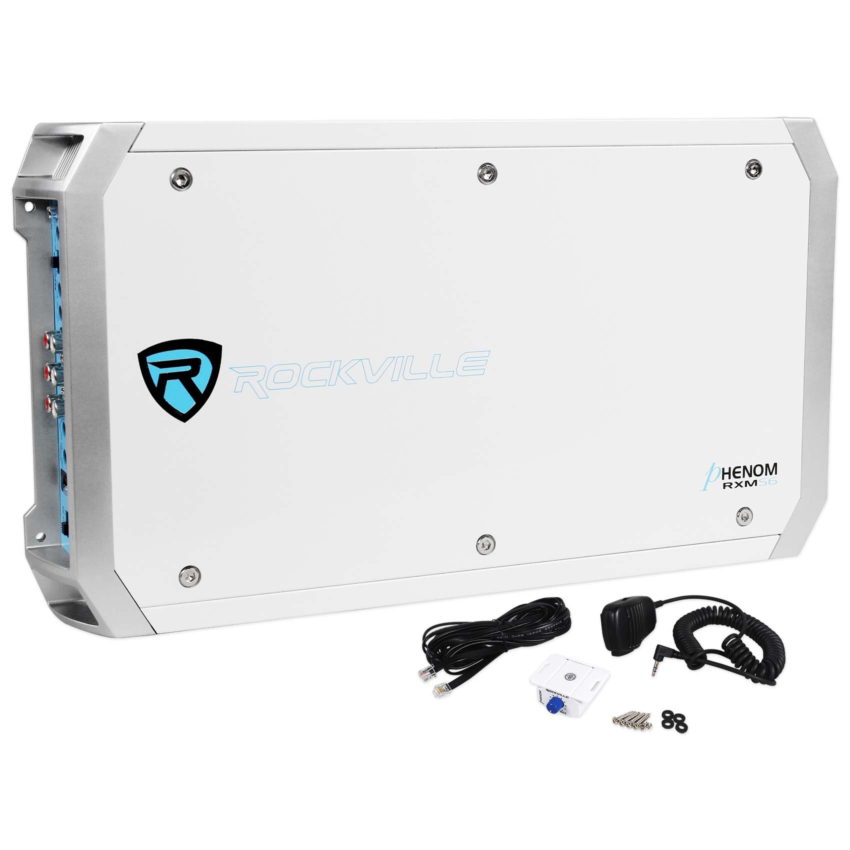 4) Rockville RMSTS65W 6.5'' 1600w Marine Boat Speakers+8'' Wakeboards+Amp+Wire Kit by Rockville (Image #7)