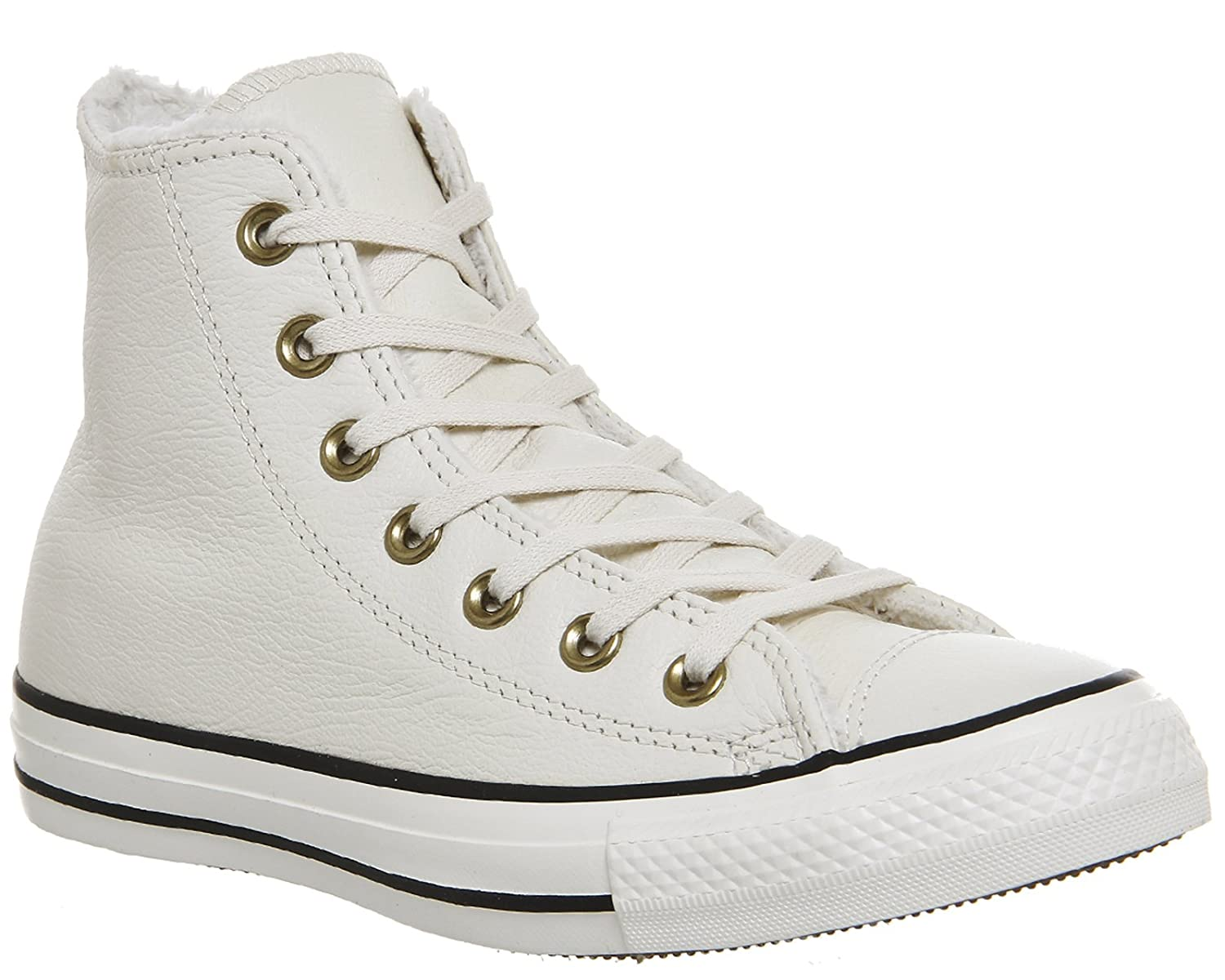 Converse Leder All Star, Unisex - Erwachsene Erwachsene - Sneaker Schwarz (Parchment Fur schwarz) 811c8b