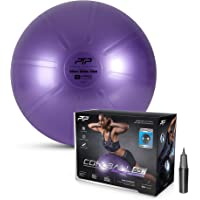 PTP Anti-Burst Core Strength Ball with Pump, Pearl Violet, 55 cm