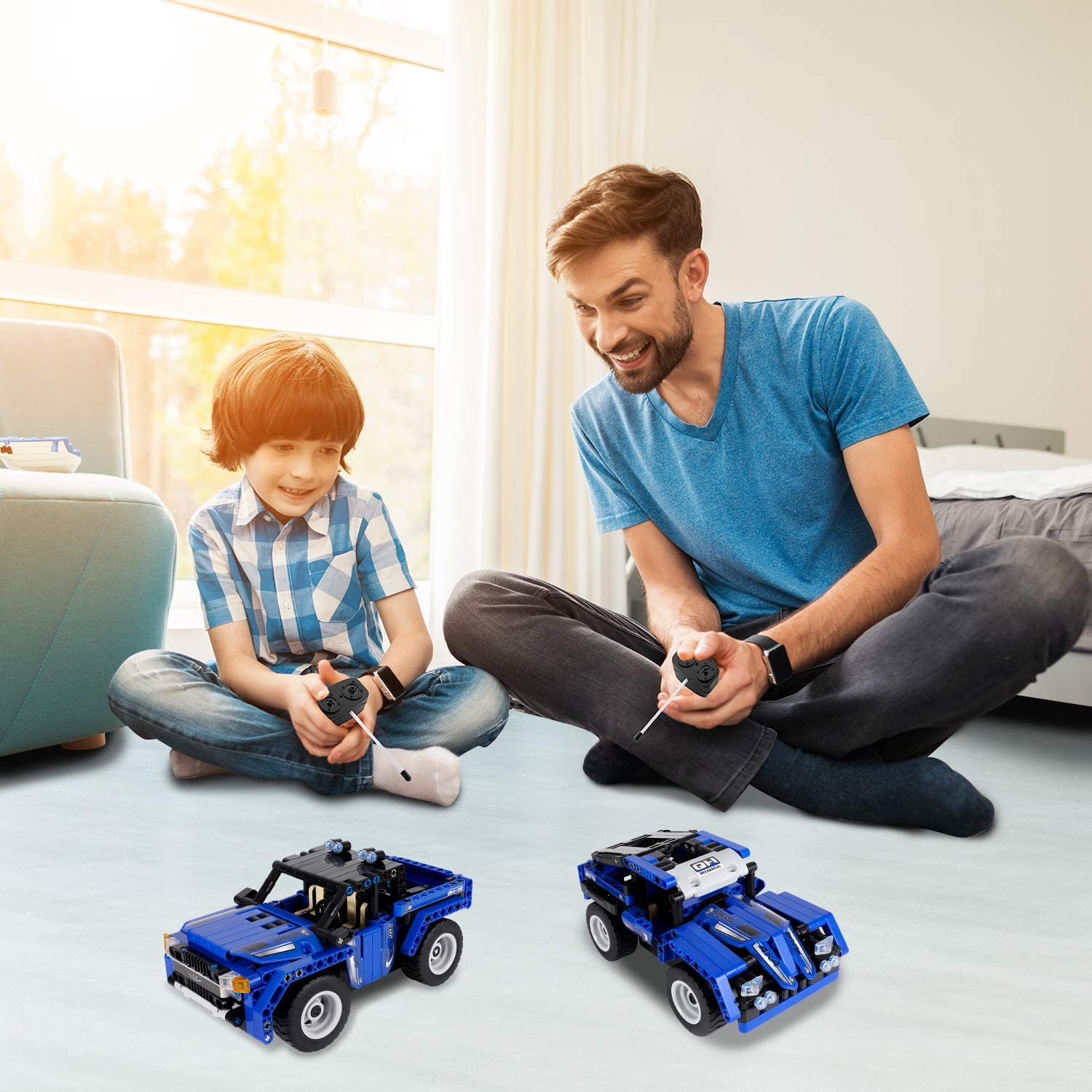 440 PCS TongLi 6605 Kids Toy for Girls and Boys Age 345678 Indoor Boys Gifts Creative Electric Toy Glowing Race Track Slot Car Race Tracks Set for Boys with LED Light