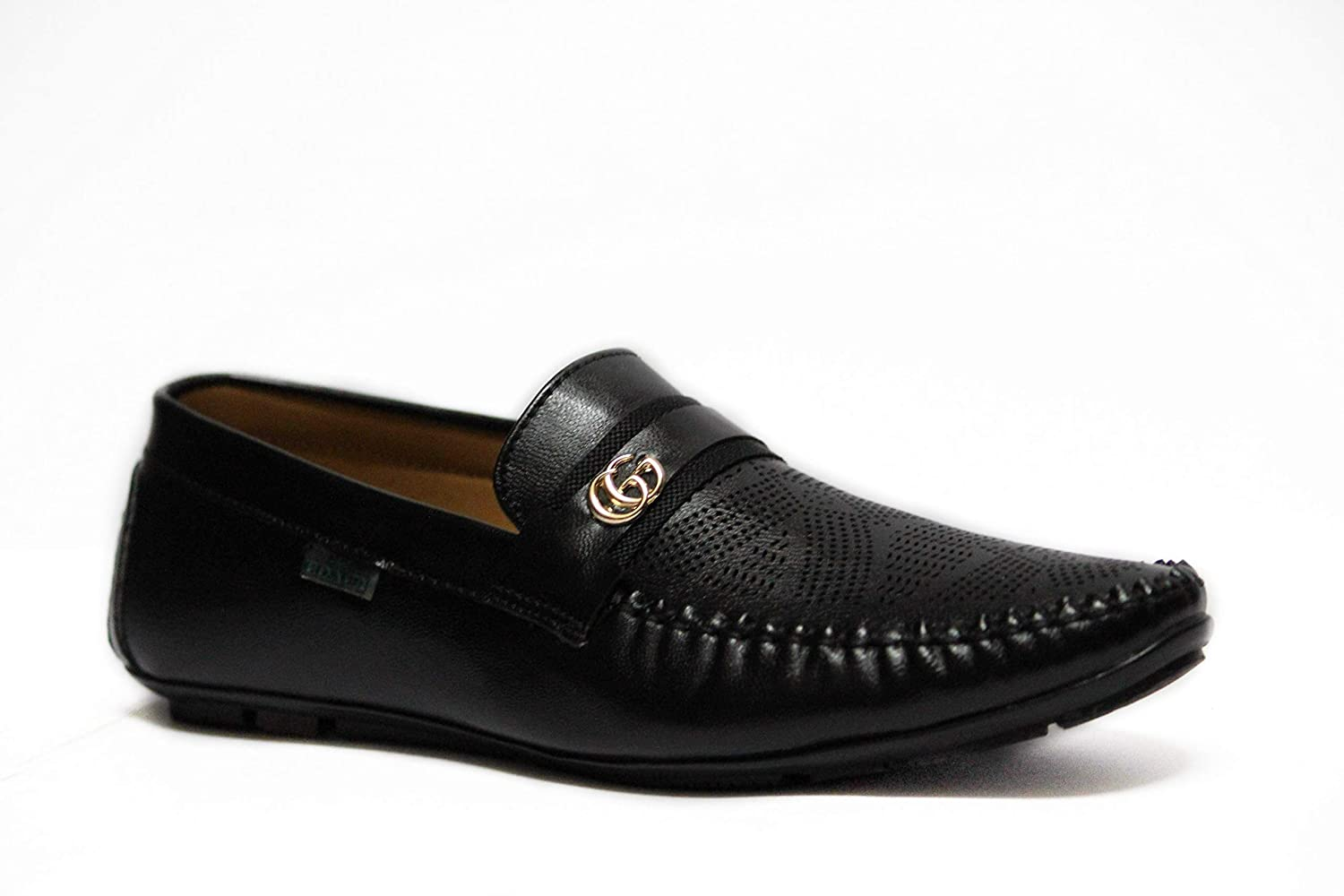Shiny Leather Loafer Black Casual Shoes