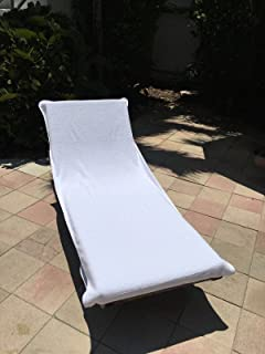 Globaltex Fine Linens Chaise Lounge Chair Cotton Towel Cover with Flap (32  x 87 : lounge chair towels fitted - Cheerinfomania.Com
