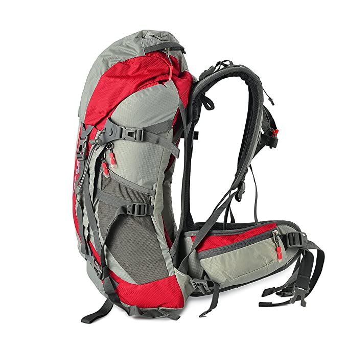 Amazon.com : Tofine External Frame Backpacks Hiking Backpacking with Rain Cover Red 32 Liter : Sports & Outdoors