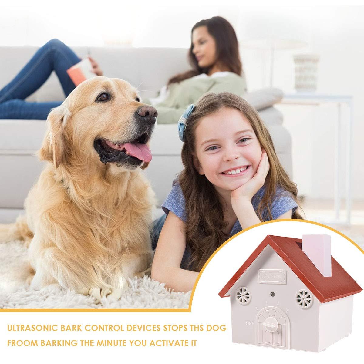 Stop Barking Dog Device,100/% Harmless Ultrasonic Bark Control and Waterproof Stop Dog Barking Device,Indoor Outdoor Hidden Anti-Barking Device Clever sprouts Ultrasonic Anti Barking Device