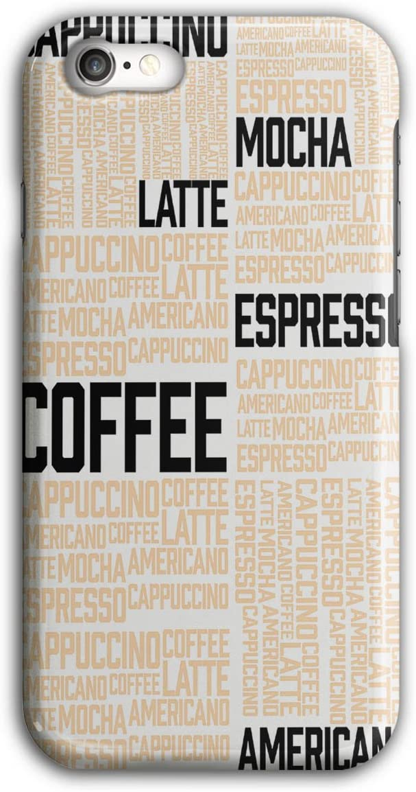 Coffee Latte Mocha Case for iPhone, 7 Words Non-Slip Cover - Slim Fit, Comfortable Grip, Protective Case by Wellcoda