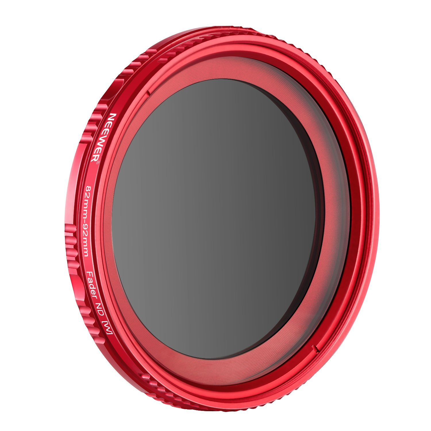Neewer 58MM Ultra Slim ND2-ND400 Fader Neutral Density Variable Adjustable Lens Filter for Camera Lens with 58MM Filter Thread Size, Made of Optical Glass and Aluminum Alloy Frame(Red) 10093142