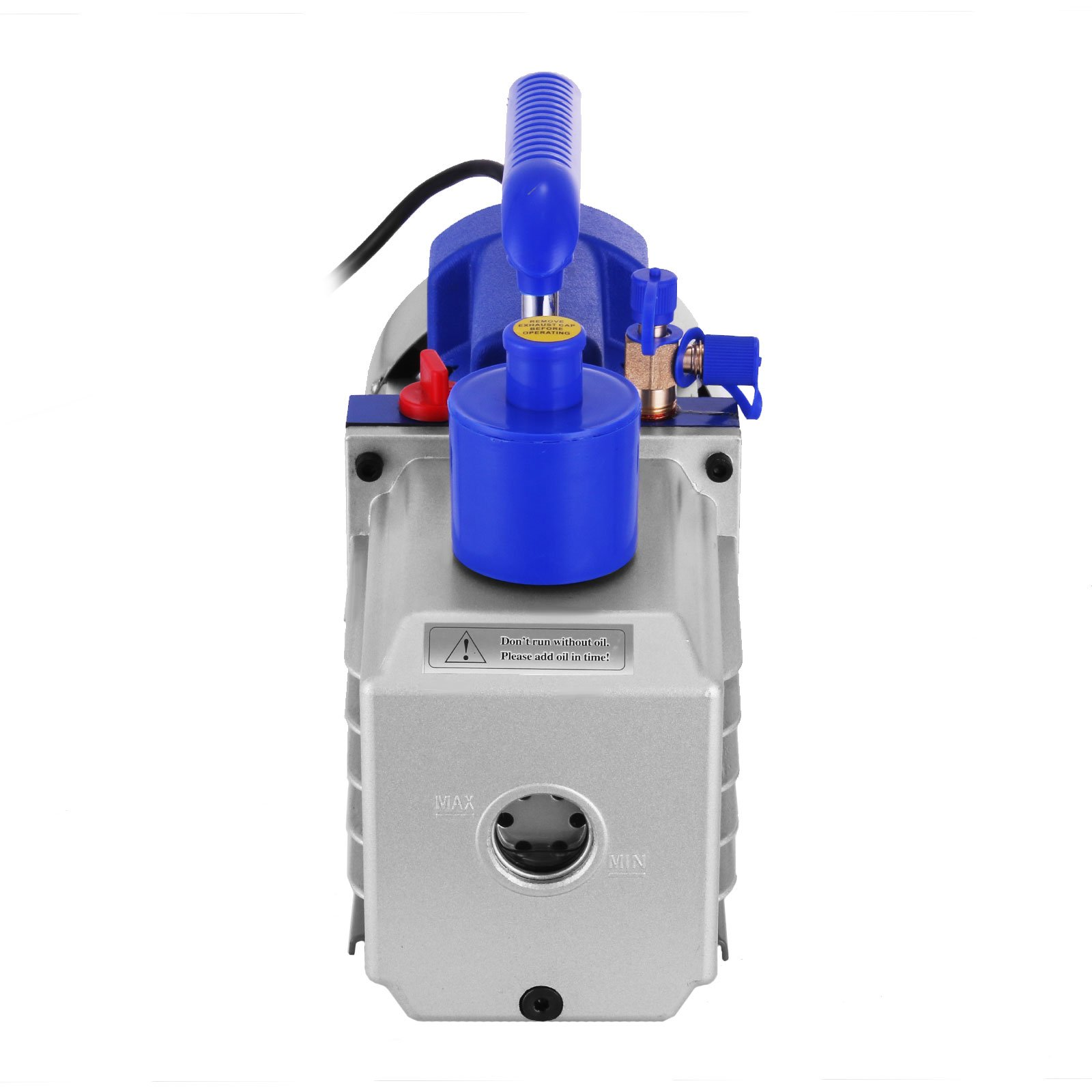 VEVOR Vacuum Pump 9CFM 1HP Two Stage HVAC Rotary Vane Vacuum Pump Wine Degassing Milking Medical Food Processing Air Conditioning Auto AC Refrigerant Vacuum Pump (2-Stage, 9CFM) by VEVOR (Image #5)