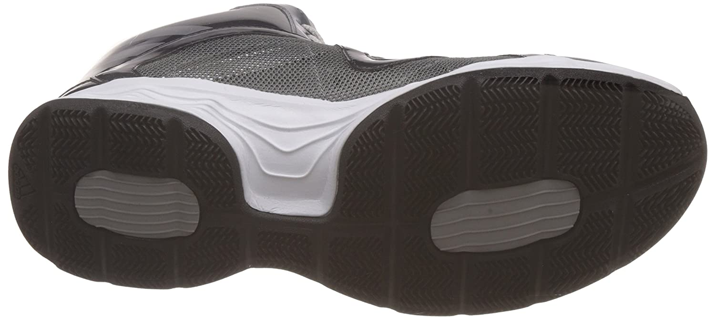 Adidas hombre 's centinela gris, plata gris oscuro cuero zapatos de baloncesto