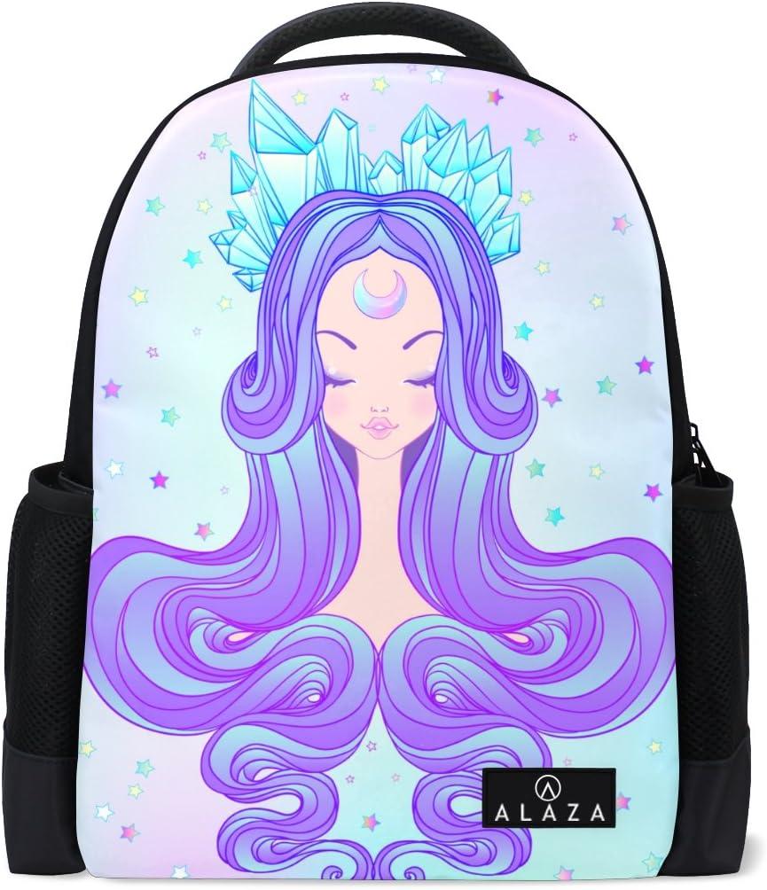 Cute Girl Printed Laptop Backpack High School Bookbag Casual Travel Daypack