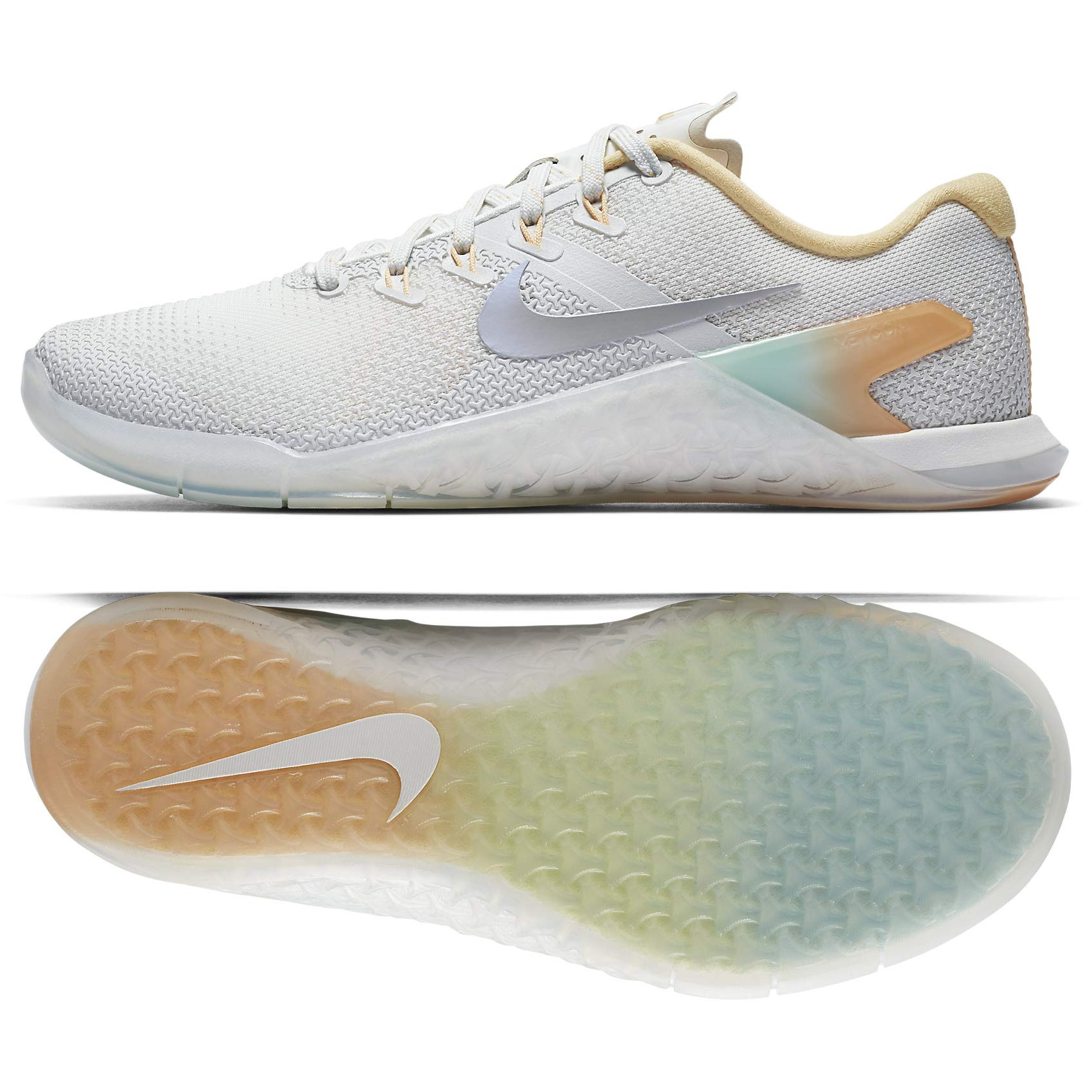a85cb7222eced9 Galleon - NIKE WMNS Metcon 4 Rise AH8184-100 White Wolf Grey Women s  Crossfit Training Shoes (7 B US)