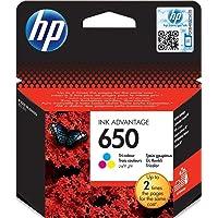 HP 650 Tri-color (Cyan, Magenta, Yellow) Original Ink Advantage Cartridge - CZ102AK