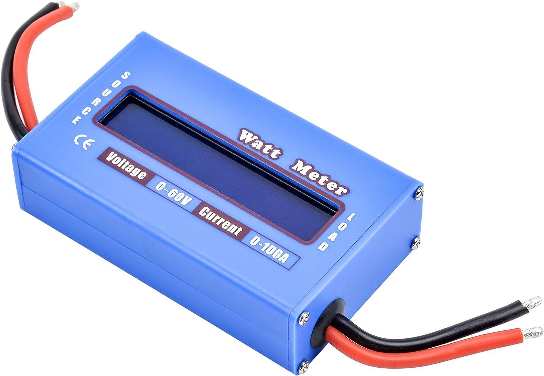 100A LCD Digital Dynamometer Watt Meter High Precision Model Power Meter 60V Solar Power Analyzer xuanL