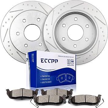 Front Brake Disc Rotors and Ceramic Pads Kit For INFINITI QX56 NISSAN ARMADA