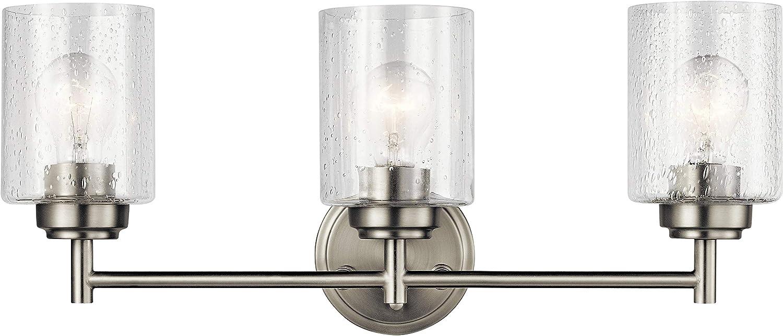 Kichler 45886ni Winslow Vanity 3 Light 225 Total Watts Brushed Nickel Amazon Com