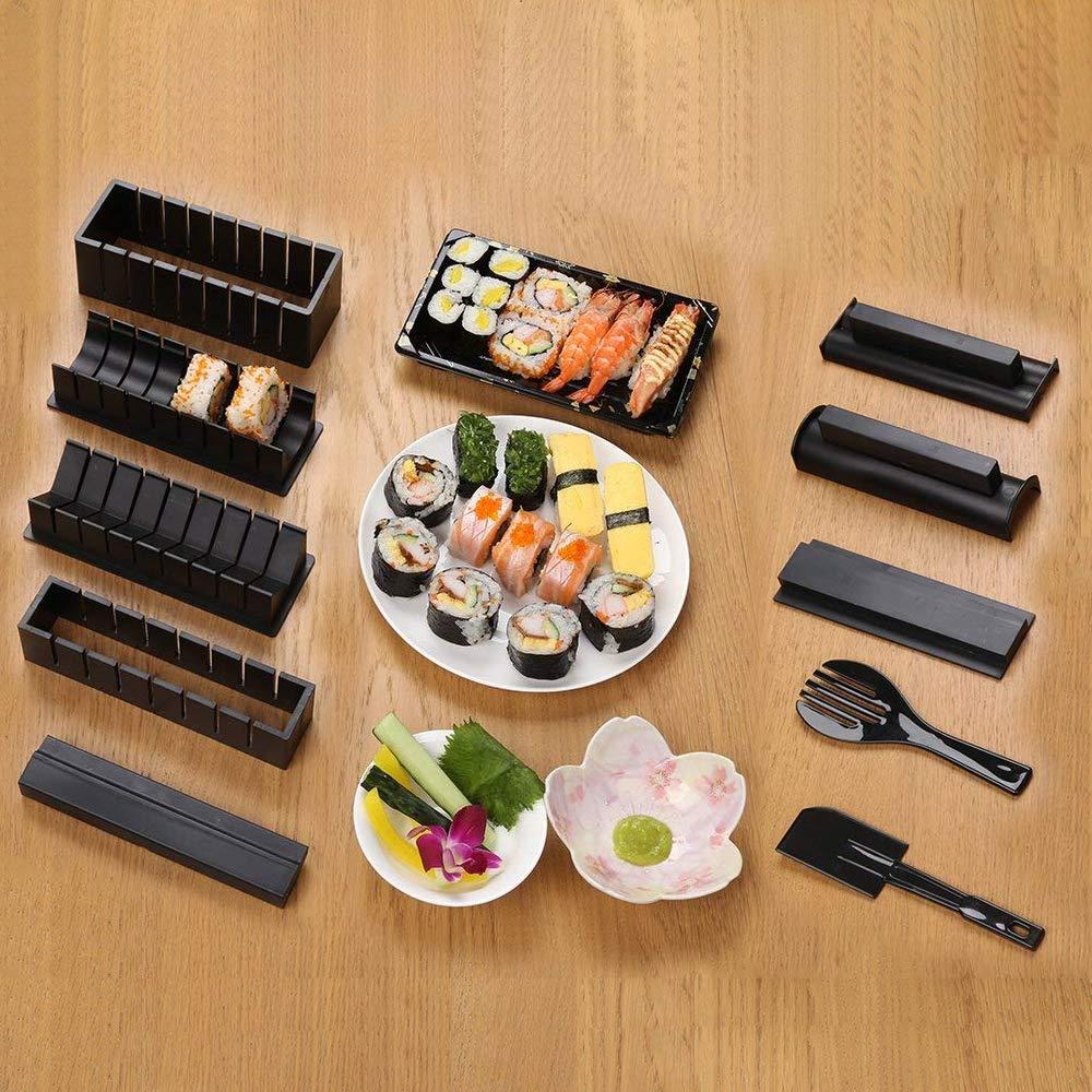 Immoch 10/Pezzi Set di stampi per Fare Sushi DIY Kit per Fare Sushi in Cucina Facilmente