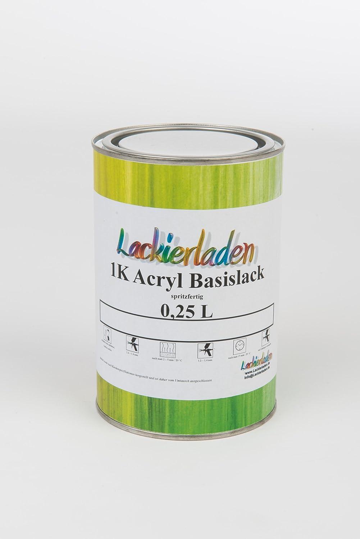Lackierladen 1k Acryl Basislack 0 25 Liter Spritzfertig Autolack Skoda 9596 Agavegruen Met Auto
