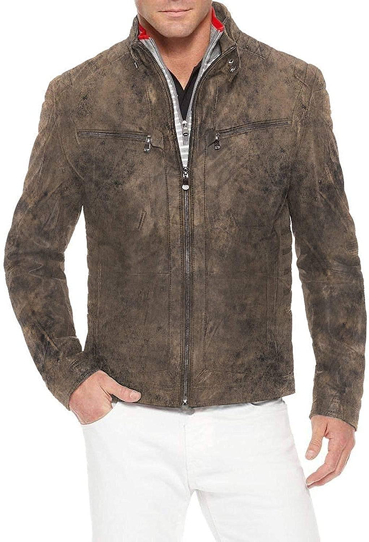 Black, Racer Jacket 1501156 Laverapelle Mens Genuine Lambskin Leather Jacket