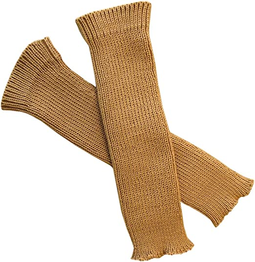100 Merino Wool Adult Women Arm Warmers Fingerless Gloves Knit Brown At Amazon Women S Clothing Store