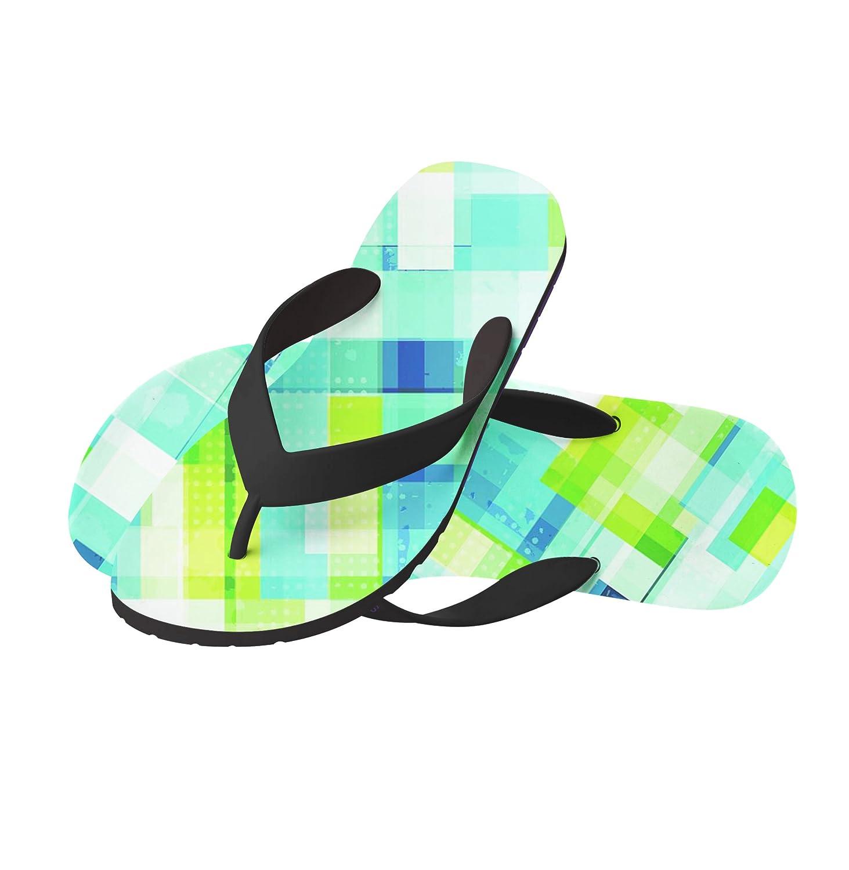 75be2d80208a Abstract Green Pattern Beach Flip Flops