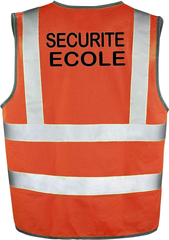 minline shop Gilet S/écurite Fluo SECURITE ECOLE