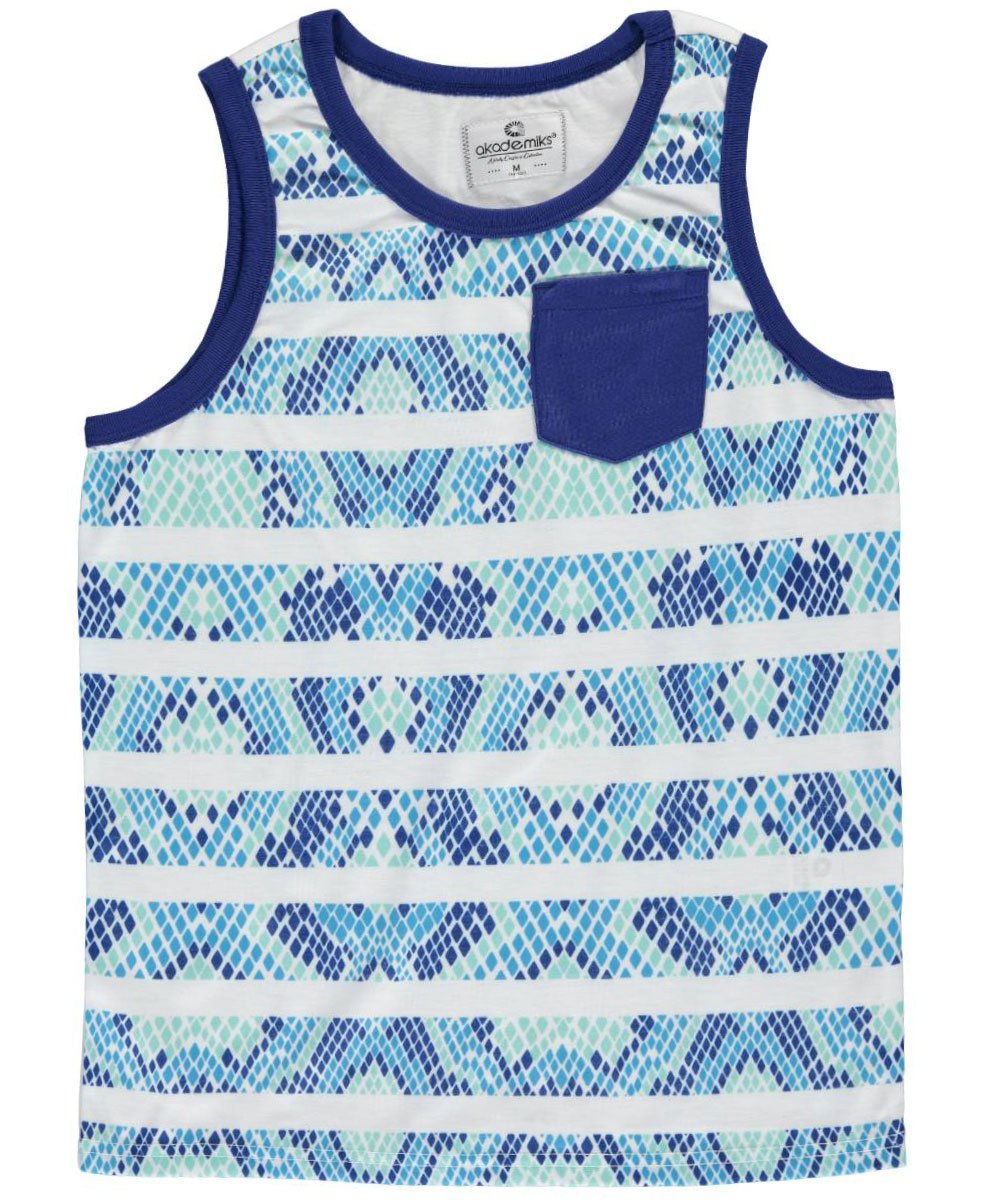 Akademiks Big Boys'Reptilian Striped Tank Top