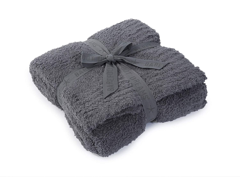 Barefoot Dreams CozyChic Throw Blanket Graphite 54 x 72 Graphite 54 x 72 B503