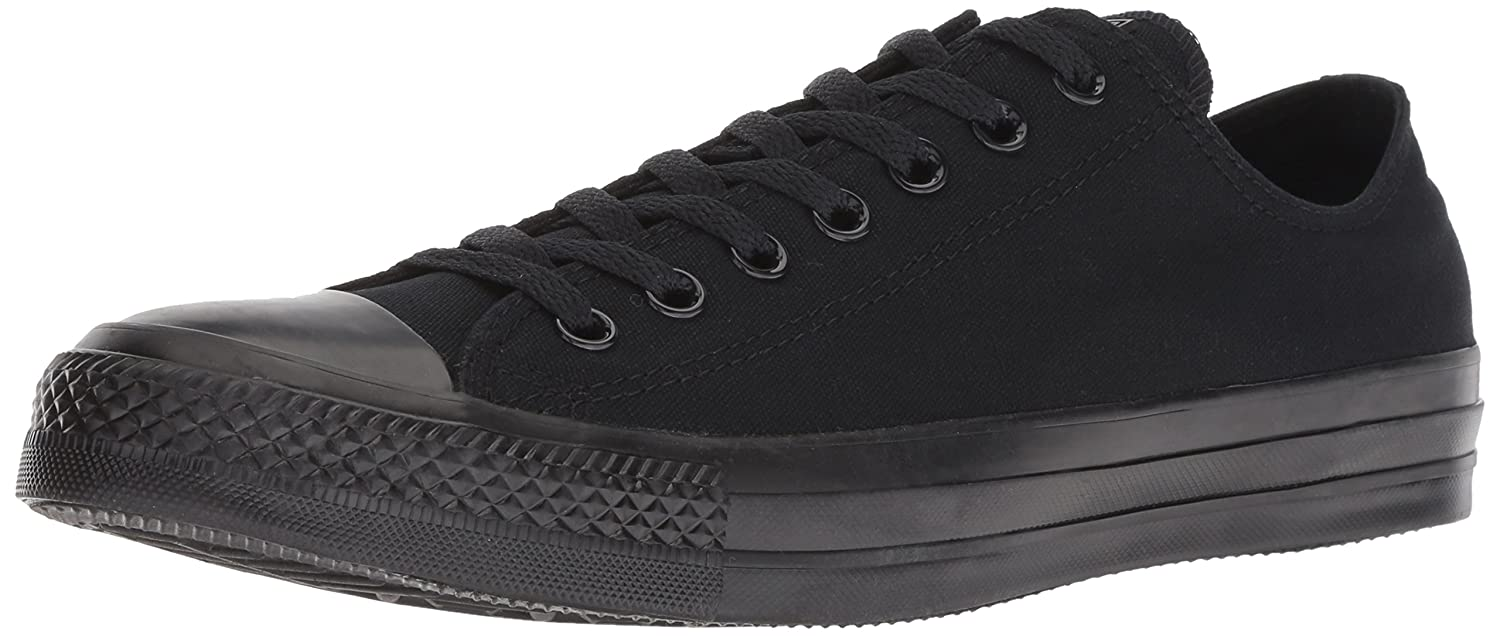 Converse Chuck Taylor All Star Canvas Low Top Sneaker B002VSS60A 11 US Men/13 US Women|Black/Black