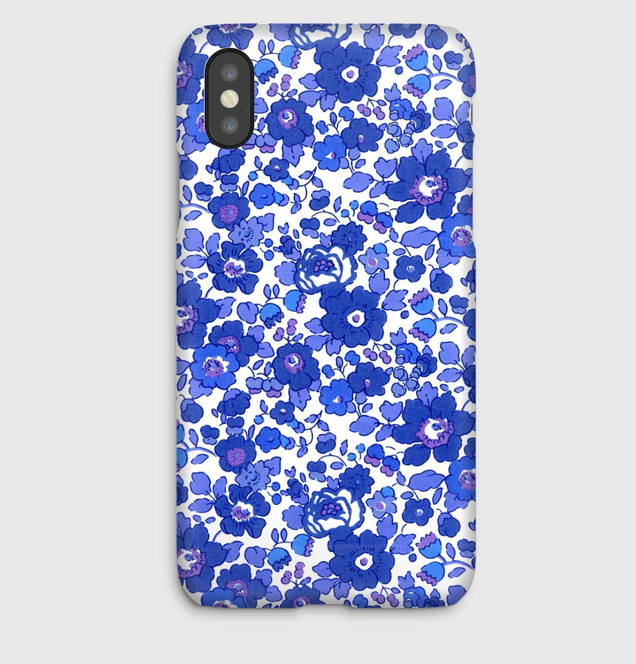Liberty BETSY DARK BLUE, coque pour iPhone XS, XS Max, XR, X, 8, 8+, 7, 7+, 6S, 6, 6S+, 6+, 5C, 5, 5S, 5SE, 4S, 4,