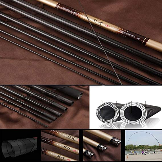 2.7-7.2 M Carbon Fiber Telescopic Fishing Rod Ultra-Light Stream Hand Pole Ca Feeder Fishing Pole,2.7 m