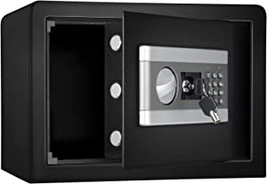 0.8cub Safe Security Box, Fireproof and Waterproof Safe Cabinet, Digital Combination Lock Safe, with Keypad LED Indicator, for Cash Money Jewelry (US Stock)