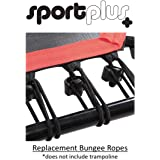 SportPlus Silent Fitness Mini Trampoline with Handle Bar / OR Replacement Bungees – Indoor Rebounder for Adults – Best Urban Cardio Workout Home Trainer, Covered Bungee Rope System – Max 286 lbs