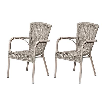 Rotin Design Lote de 2 sillones de Resina Verona para el ...