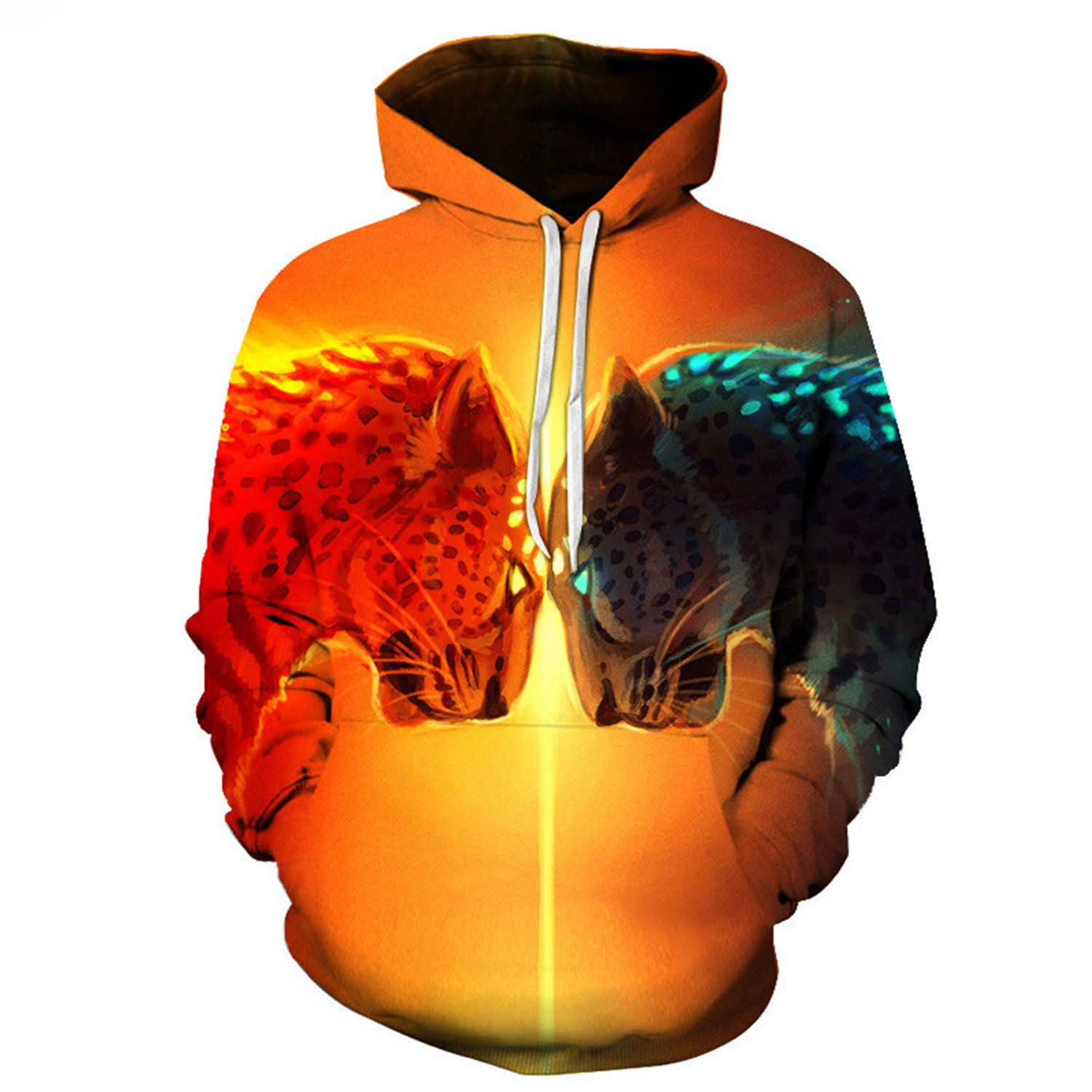 Matterin Christiao Leopard Printed 3D Brother Hoodies Sweatshirts MenS Pullover Autumn Animal Hoodies Hooded Jackets