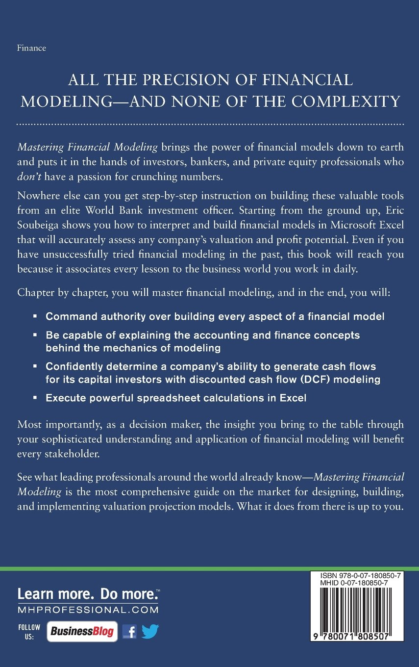 Mastering Financial Modeling: A Professional's Guide to