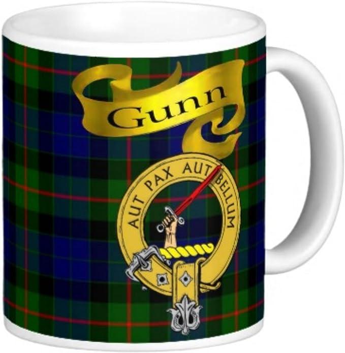 Amazon Com Scottish Clan Gunn On 11 Oz Ceramic Coffee Mug Kitchen Dining