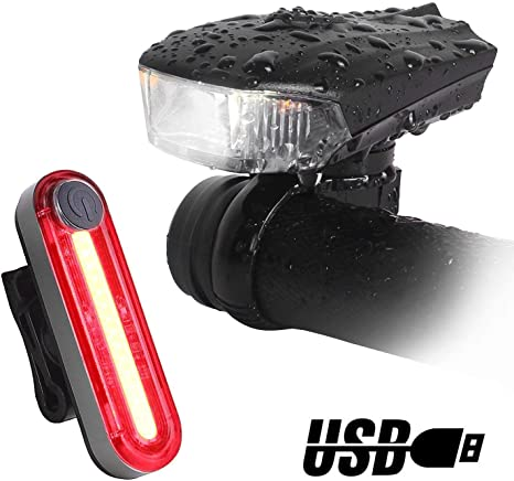 Unigear LED Luz Delantera y Trasera Bicicleta Lámpara Impermeable ...